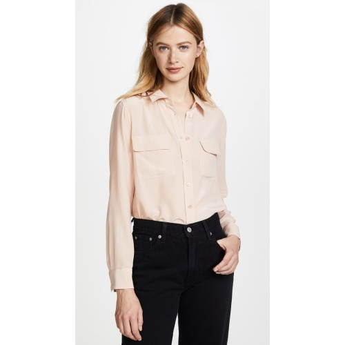 ac349ba98703e Equipment. Equipment Slim Signature Blouse French Nude 손예진 블라우스