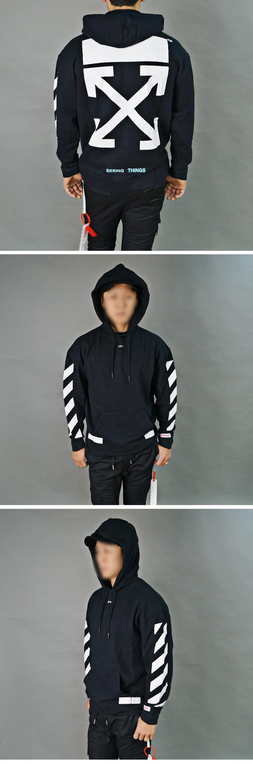 a77db6e5773 머스트잇(MUSTIT) - 인천 데님샵 [18FW] 오프화이트 다이아그 애로우 오버 후드 블랙