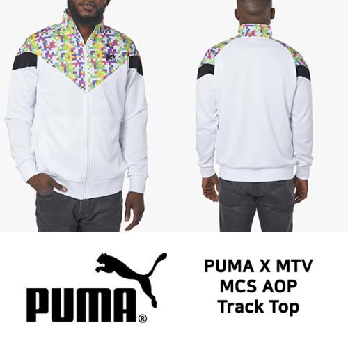 67cba6f126 머스트잇(MUSTIT) - 퓨마 X MTV 콜라보 MCS AOP 트랙 탑